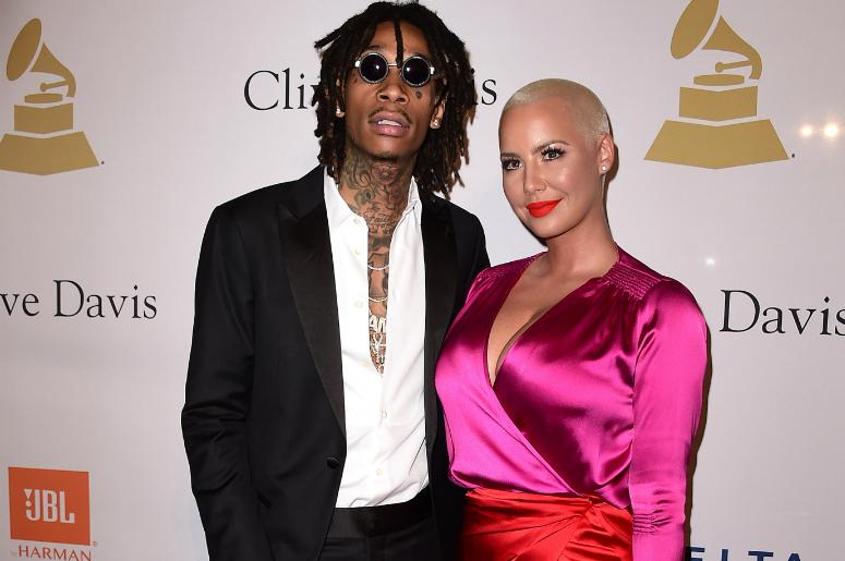 faf4e105f Wiz Kalifa and Amber Rose at the 2017 Clive Davis Pre-Grammy Gala at the