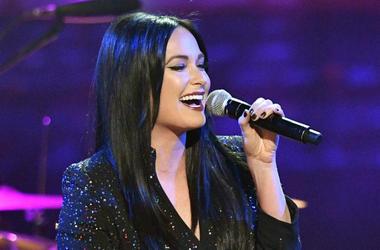 Kacey Musgraves performs during the Merle Haggard Tribute concert at Bridgestone Arena.