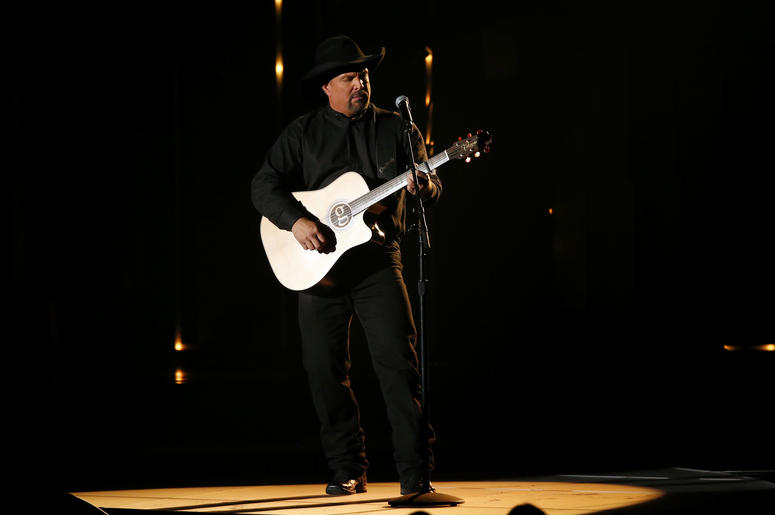 Garth Brooks appears on the 52nd Annual CMA Awards at the Bridgestone Arena on November 14, 2018 in Nashville, Tennessee