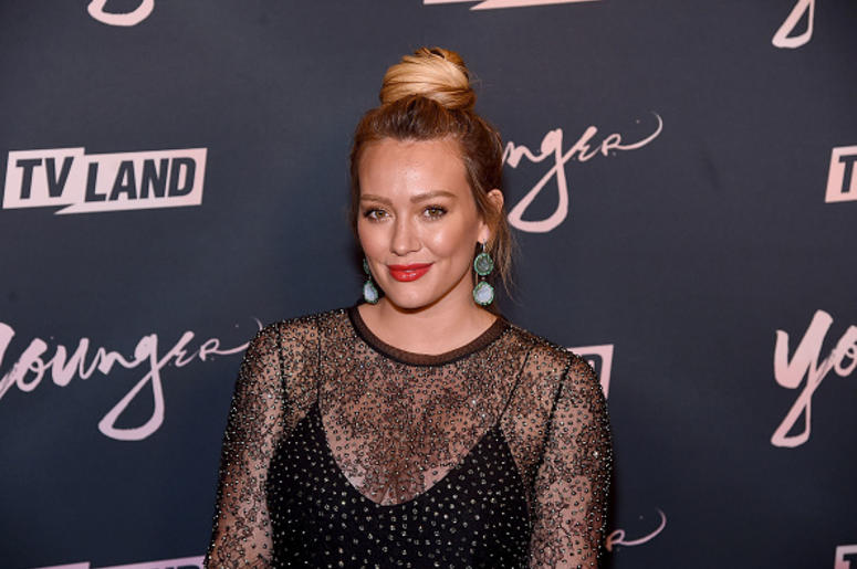 """BROOKLYN, NY - JUNE 04: Hilary Duff attends the """"Younger"""" Season 5 Premiere Party at Cecconi's Dumbo on June 4, 2018 in Brooklyn, New York. (Photo by Jamie McCarthy/Getty Images)"""