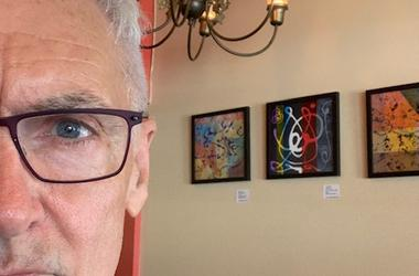 Me and my art at Circa in West Seattle