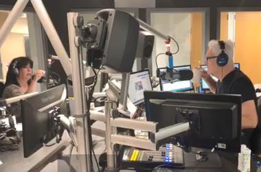 John & Jeanne in the studio