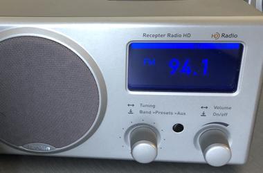 Radio tuned to 94.1