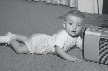 Young John and an old radio