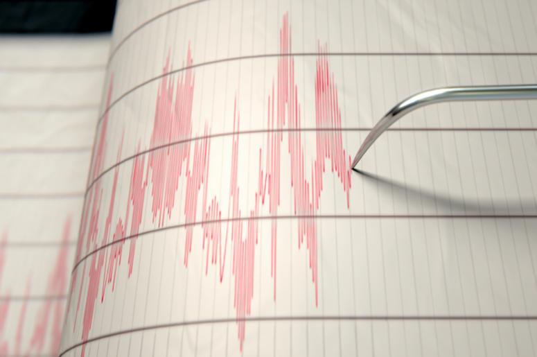 Seismograph measuring earthquake activity
