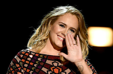 Adele performs onstage during The 59th GRAMMY Awards