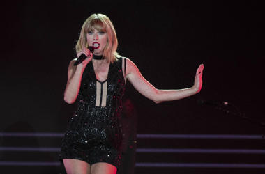 Taylor Swift performs after the Formula One qualifying session for the United States Grand Prix at Circuit of the Americas.