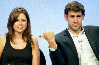 John Krasinski and Jenna Fischer, Pam and Jim from The Office
