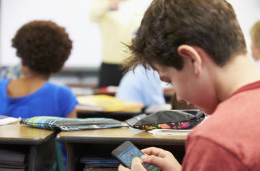 Student, Cell Phone, Mobile Game, Class