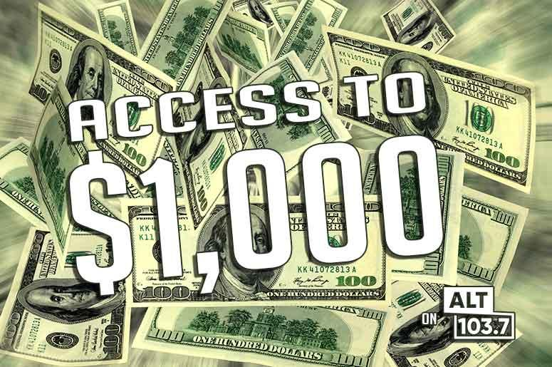 Access To $1,000 on ALT 1037