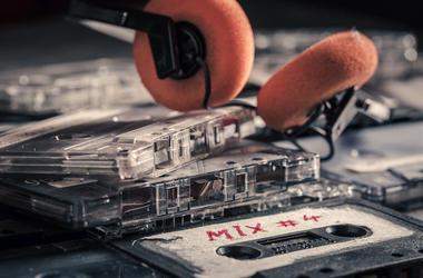Cassette Tapes, Wooden Table, Mixtapes, Headphones, Retro