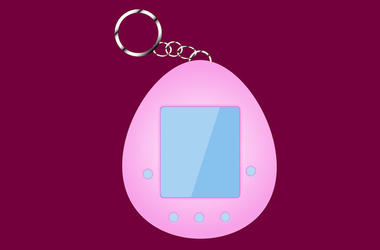 Tamagotchi, Digital Rendering, Pet, Animated, Keychain