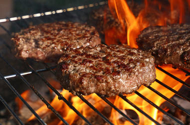 Beef Burger, Hamburger, Grill, Flame, Charcoal, Flame Grill