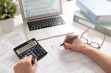 Taxes, Calculator, Form, Computer, Doing Taxes