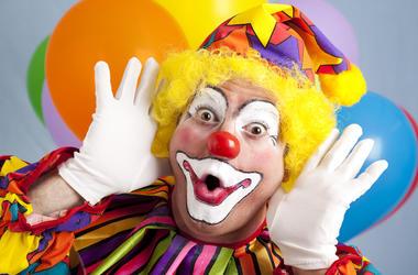 Clown, Funny Face, Balloons