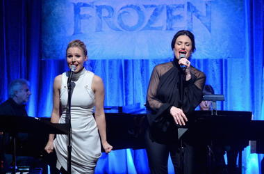 Kristen Bell and Idina Menzel