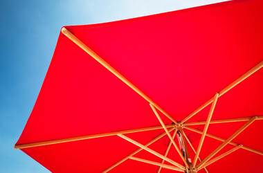 Red Umbrella, Blue Sky