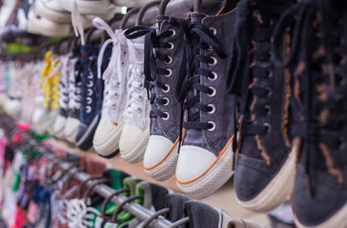 Shoes, Sneakers, Store, Rack, Wall