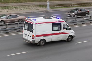 Ambulance on the freeway