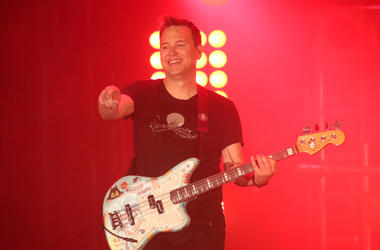 Mark Hoppus on stage