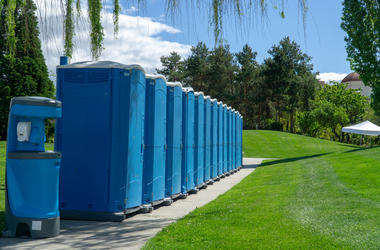 Line of Port-O-Pottys