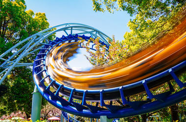 Roller Coaster, Amusement Park, Fast, Blurry
