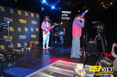 Oliver Tree performs in Verizon Artist Lounge