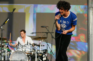 Matthew Healy performs during the The 1975 concert during the Lollapaloosa Sao Paulo 2019