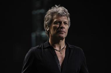 Bon Jovi, Concert, Black Shirt, Somber, Serious