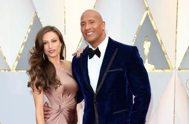 Dwayne Johnson, The Rock, Lauren Hashian, Red Carpet, 89th Academy Awards, 2017