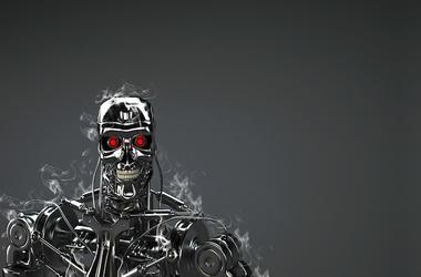 Terminator, Robot, Black, Animated