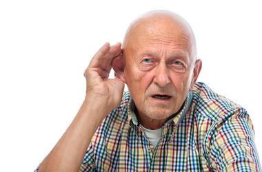 old man hearing