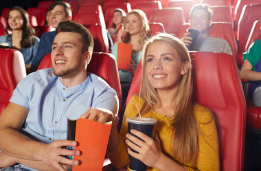People watching movie in theater