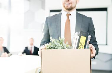 Quit, Job, Cardboard Box, Personal Belongings, Office, Employee