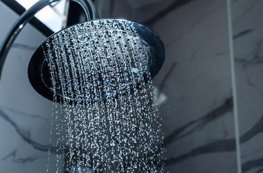Shower Head, Water Drops
