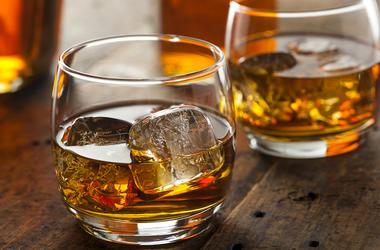 Scotch, Whiskey, Glass, Ice