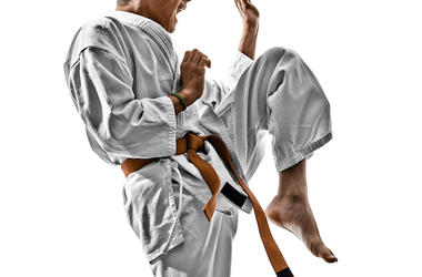 Karate, Teenager, Gi, Knee, Strike, Pose