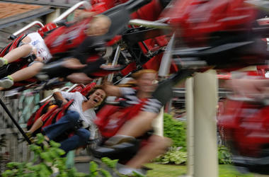 Roller Coaster, Blurry, Fun