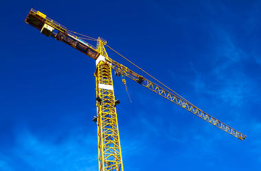 Construction Crane, Blue Sky