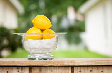 Lemons, Bowl, Lemonade Stand