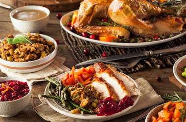 Thanksgiving, Dinner, Turkey, Stuffing, Cranberries, Thanksgiving Dinner