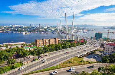 Zolotoy Bridge, Russia, Blue Sky, Beautiful