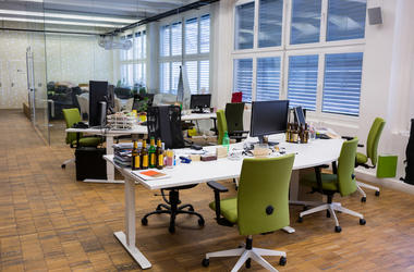 Empty Office, Desk, Chairs, Workspace