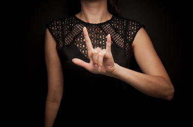 Woman, Sign Language, Love