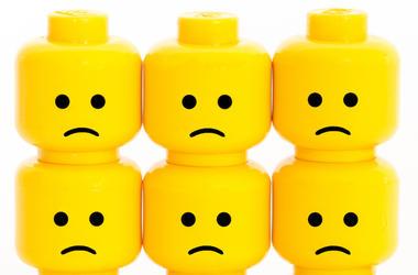 Lego Heads, Male, Sad Face
