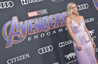Brie Larson arrives at Marvel Studios