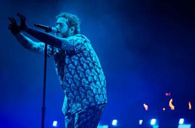 Post Malone performs