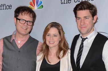 Rainn Wilson, Jenna Fischer, John Krasinski, The Office, Series Finale, Red Carpet, 2013