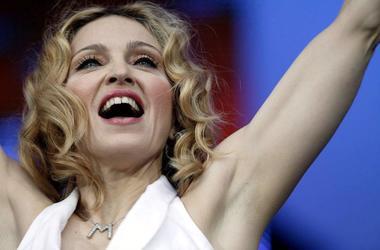 Madonna, Close Up, Live 8, London, White Dress, Smile, 2005