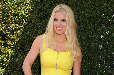 Jessica Simpson, Red Carpet, Stuart House Benefit, Yellow Dress, 2014